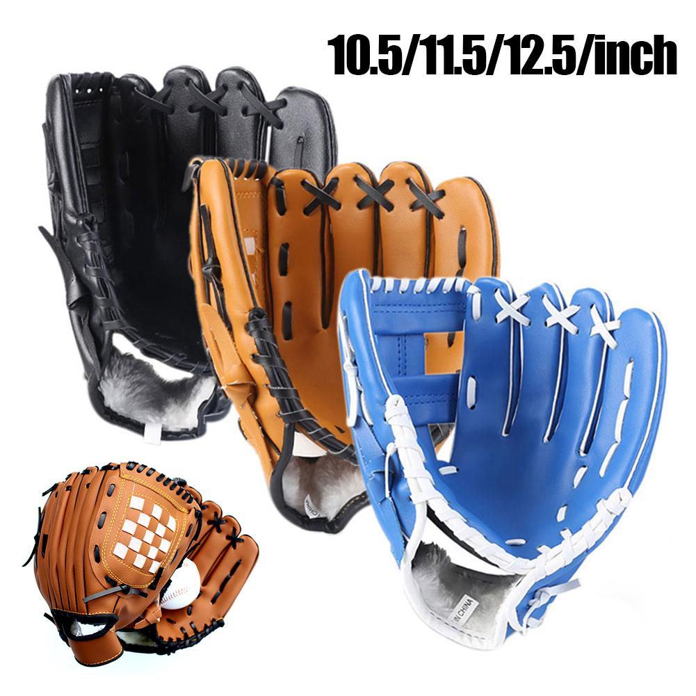 10.5/11.5/12.5 Inch Baseball Catcher Glove For Kids Youth Adults Outdoor Baseball Softball Practice Left Hand Protection Gloves