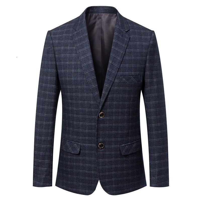 Гладкие лезвия Мужчины носить бронежилет и Тонкий Блейзер Куртка для двух швейцаров мужчин весной - 6
