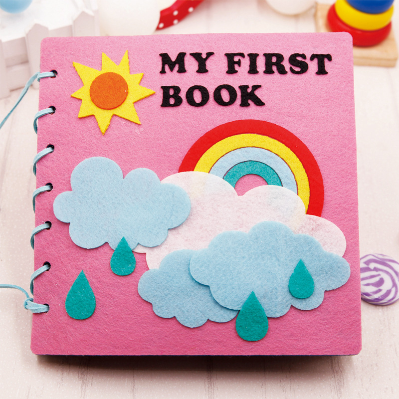 Montessori Early Education Baby Felt Book Homemade Picture Quite Book Diy Craft Children Material Kit