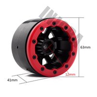 4PCS RC Rock Crawler Plastic 2.2 Beadlock Wheel Rim for 1/10 Axial SCX10 RR10 Wraith Yeti RC Car 2