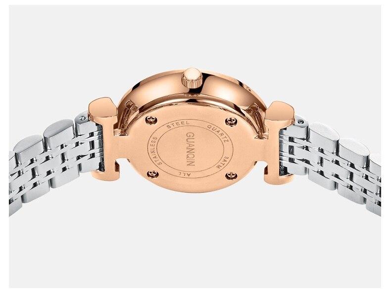 Woman Watch 2019 GUANQIN GS19122 Quartz Luxury Brand Ladies Watch Green Waterproof Simple Fashion Wrist Watch Tool Dropshipping (17)