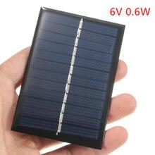 6 فولت 0.6 واط شاحن الخلايا الشمسية مصغرة الكريستالات Battery بها بنفسك بطارية لوحة شمسية من السيليكون القياسية الايبوكسي الطاقة تهمة وحدة 80x55 مللي متر