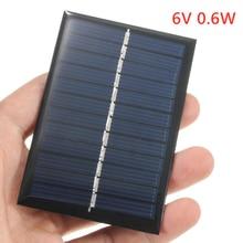6 v 0.6 w 미니 태양 전지 충전기 다결정 diy 배터리 실리콘 태양 전지 패널 표준 에폭시 전원 충전 모듈 80x55mm