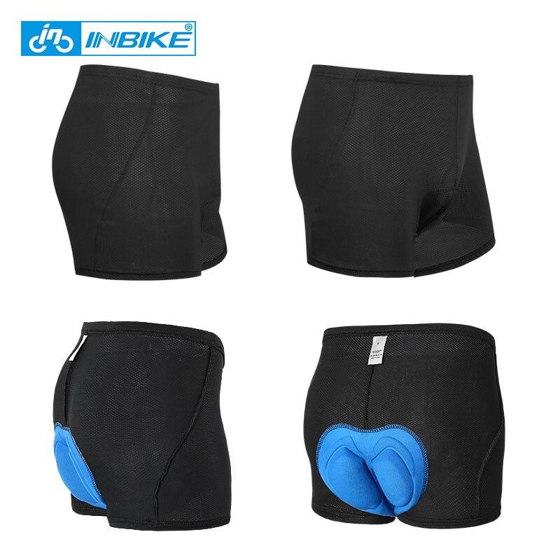 Spor ve Eğlence'ten Bisiklet Şortları'de INBIKE erkek bisiklet iç çamaşırı silikon jel bisiklet dağ MTB şort sürme bisiklet spor iç çamaşırı nefes tayt şort