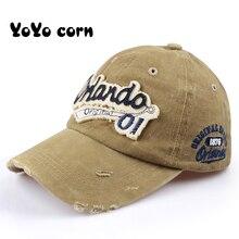 YOYOCORN Men Baseball Caps Dad Casquette Women Snapback Bone Hats For Fashion Vintage Gorras Letter Cotton Cap