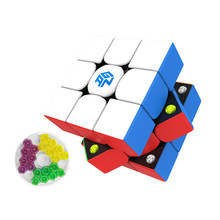 Mais novo gan356 m 3x3x3 cubo mágico magnético 3x3 velocidade gan356m labirinto quebra-cabeça gan 356 m ges mágico cubo brinquedos educativos para crianças