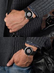 Часы мужские, спортивные, кварцевые, водонепроницаемые, с резиновым ремешком