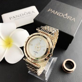 Luksusowa marka zegarki kwarcowe zegarki damskie zegarki srebrne zegarki damskie zegarek zegar ze stali nierdzewnej Casual P31 tanie i dobre opinie QUARTZ Bransoletka zapięcie Wolfram stali 3Bar Luxury ru PANDORA