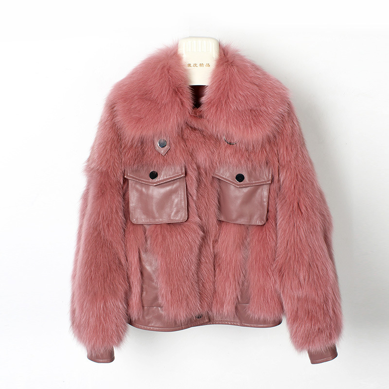 OFTBUY 2019 Casual Winter Jacket Women Luxury Real Fur Coat Thick Warm Natural Fox Fur Loose Outwear Streetwear Fashion New