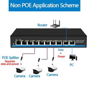 Image 5 - 48V Gigabit 10 портовый коммутатор Poe сетевой гигабитный коммутатор Поддержка IEEE802.3af/at IP камер и Беспроводной точка доступа, сетевой коммутатор