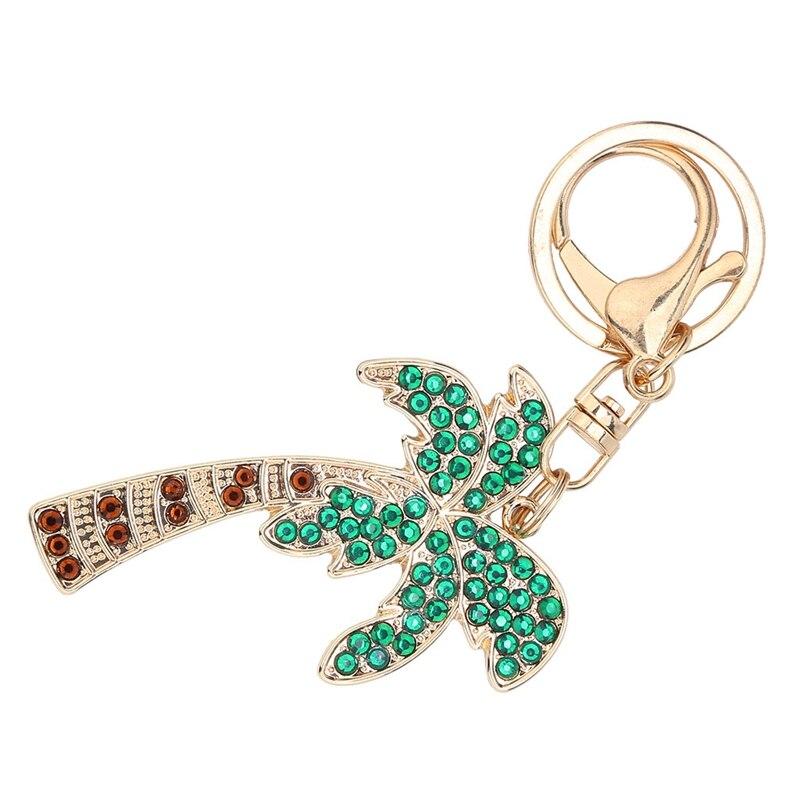 Diy Handmade Diamond Keychain Rhinestone Bag Pendant Keyrings Coconut Tree Chain Crystal Key Chains|Hooks & Rails| |  - title=