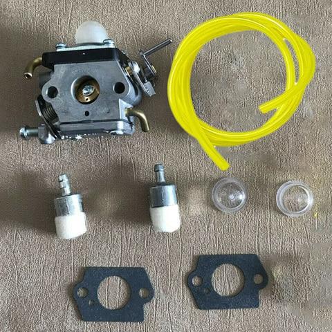 carburador para husqvarna 122c 122ldx 574386701 581734301 trimmer carburador gaxetas linha de combustivel primer lampadas