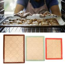 3pcs Silicone Baking Mat Macaron Oven Sheet Mats Bakeware Heat Resistant Non-stick for Bake Pan cake tools(China)
