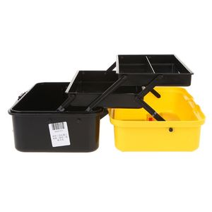 Image 3 - 3 Layer Folding Tool Storage Box Portable Hardware Toolbox Multifunction Car Repair Container Case Thickening folding rods