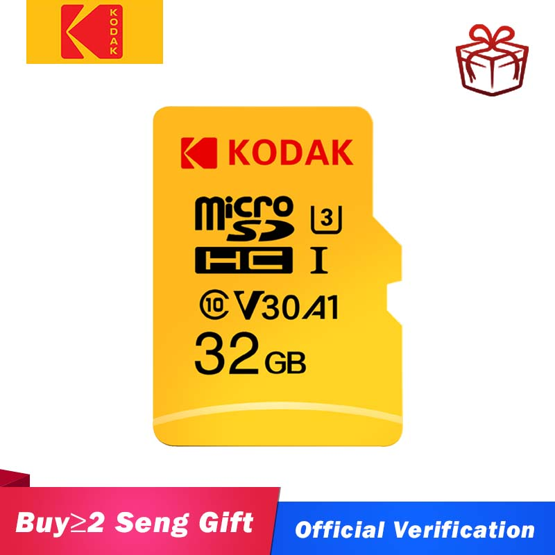 Original kodak u3 a1 v30 micro cartão sd 128 gb 32 gb 64 gb 256 gb 512 gb classe 10 cartão de memória 32 64 128 256 gb vídeo cartão de memória do telefone|Cartões de memória|   -