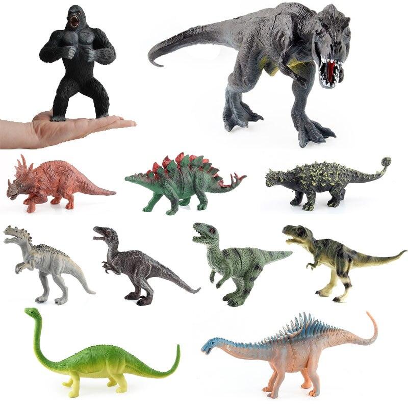 Детские динозавры экшн-фигурки имитация мир Юрского периода доисторические животные игрушки модели коллекционные забавные рождественски...