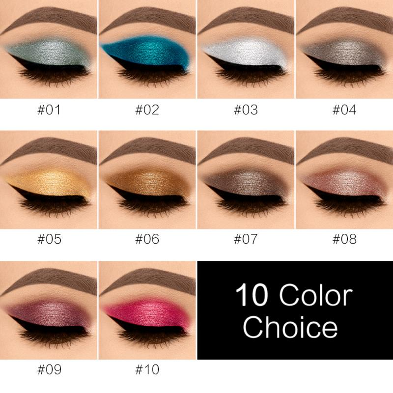 Metallic Diamond Palette Eyeshadow Pearly Waterproof Liquid Eyeshadow Glitter Eye Shadow Shimmer Highlighter Eye Makeup TSLM2