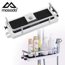 Shower Storage Rack Organizer Bathroom Pole Shelves Shampoo Tray Stand Single Tier No Drilling Lifting Rod Shower Head Holder