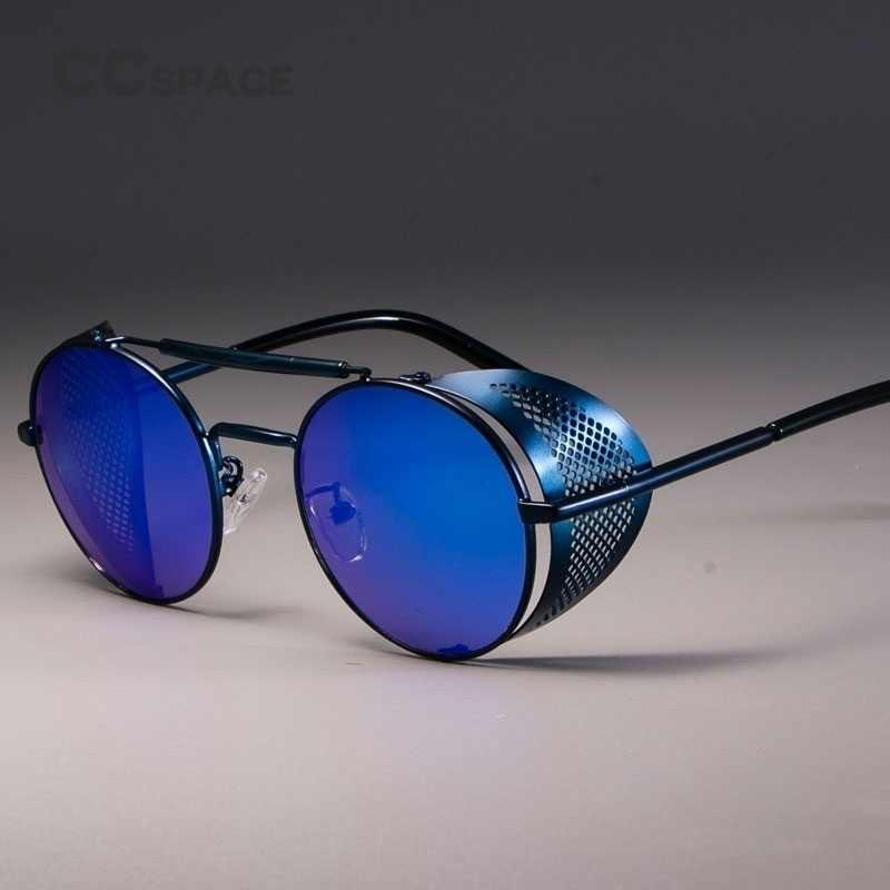 แฟชั่นผู้หญิงโกธิคSteampunkแว่นตากันแดดยี่ห้อDesigner Vintage Vintageผู้หญิงผู้ชายPunkแว่นตากันแดดOculosรอบEyeglases