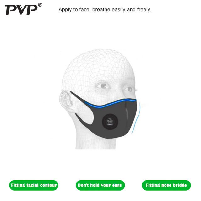 PVP 1Pcs Face Mask Dust Mask Anti Pollution Masks PM2.5 Activated Carbon Filter Insert Can Be Washed Reusable Mouth Masks warm 3