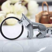 Cute Dog Key Chain Nordic Cutting Style Anime Bag Pendant Kawaii Metal Ring Holder Keychain Couple Gift Purse Charms