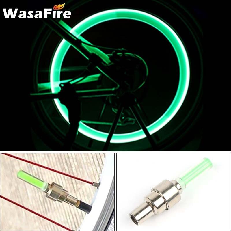 Fireflys LED *4 PACK* 8 GREEN Bike Car Tire Wheel Valve Cap USA SELLER FAST SHIP