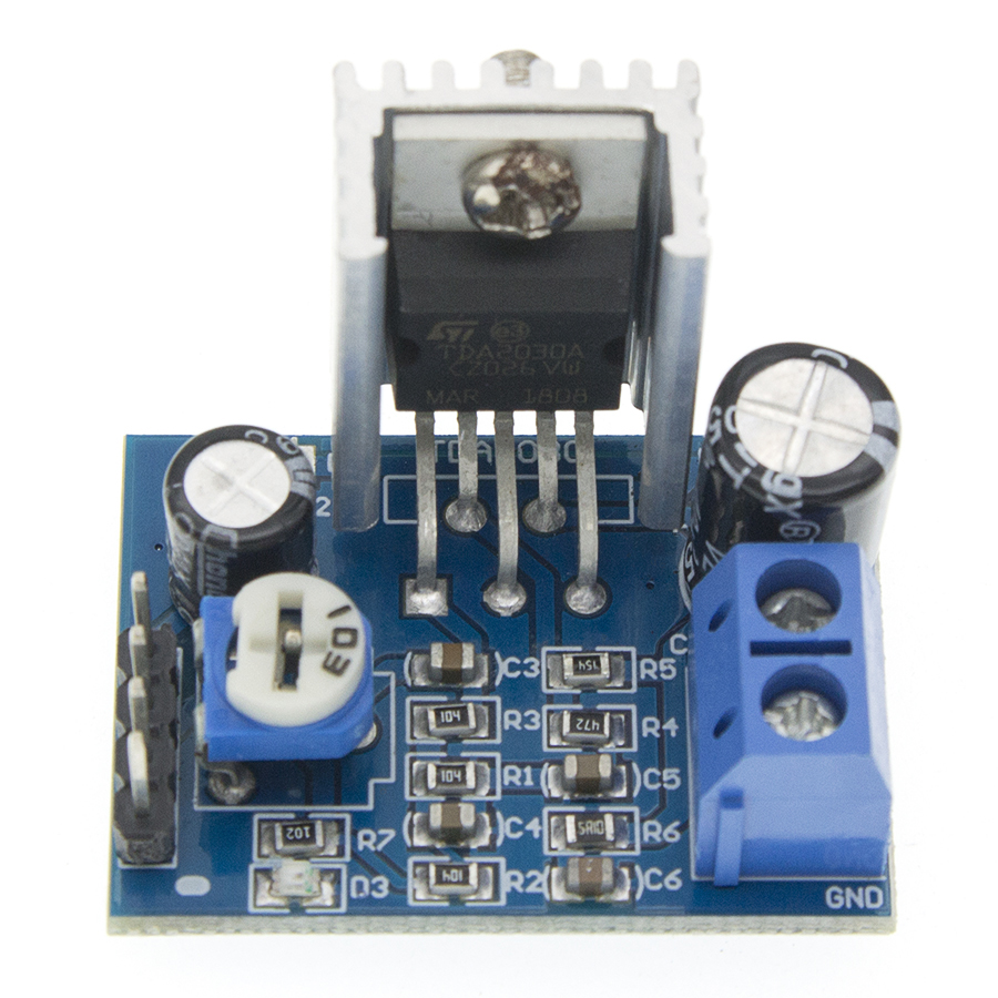 Audio <font><b>Amplifier</b></font> Board Module <font><b>TDA2030</b></font> TDA2030A 6-12V 18W Single Amp Power Supply image