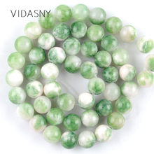 Green Persian Jades Natural Round Stone Beads for Jewelry Marking 6 8 10mm Charm Spacer Loose Beads Diy Bracelet Necklace 15'' natural fuchsia persian jades stone round loose beads for jewelry making 6 10mm spacer beads fit diy bracelet necklace 15