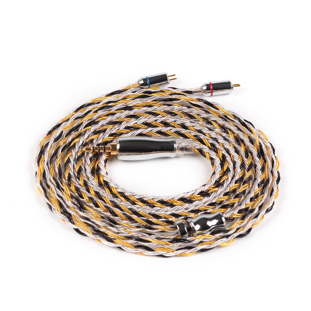 Yinyoo 16 Core Upgraded Silver Plated Copper Cable 2 5 3 5 4 4MM With MMCX 2pin QDC TFZ Connector KZ ZS10 ZSX BLON bl-03 bl-05