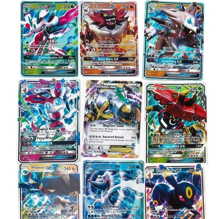 200 Pcs Pokemon GX MEGA Shining Cards Game Battle Carte Trading Cards Game Children TAKARA TOMY Toy