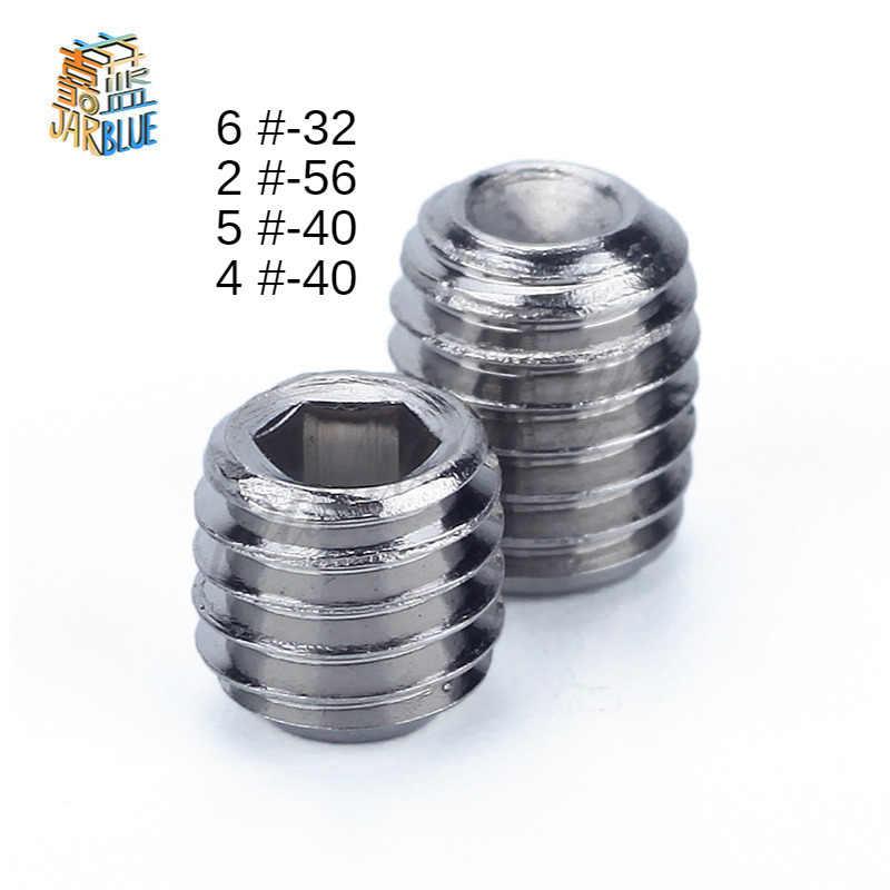"""6#-32x1//2/"""" Hex Socket Set Cap Point Grub Screws Black 50pcs"""