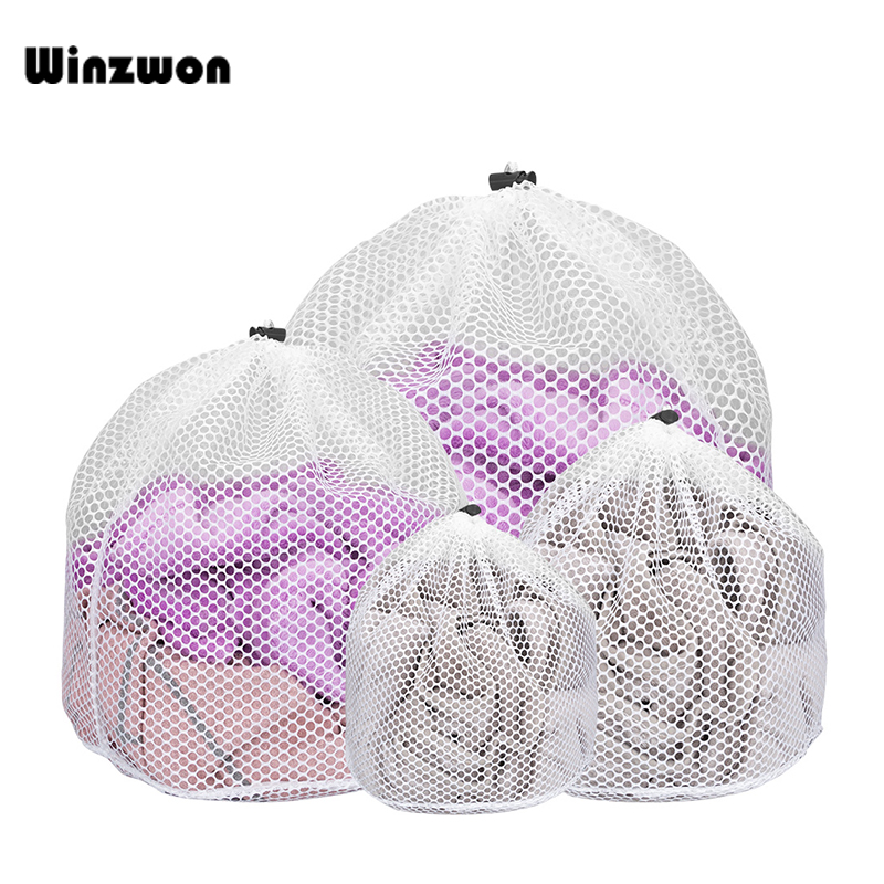 4Pcs Reusable Mesh Washing Bag Bra Laundry Bag Dirty Clothes Lingerie Underwear Laundry Bags For Washing Machines Net Wash Care