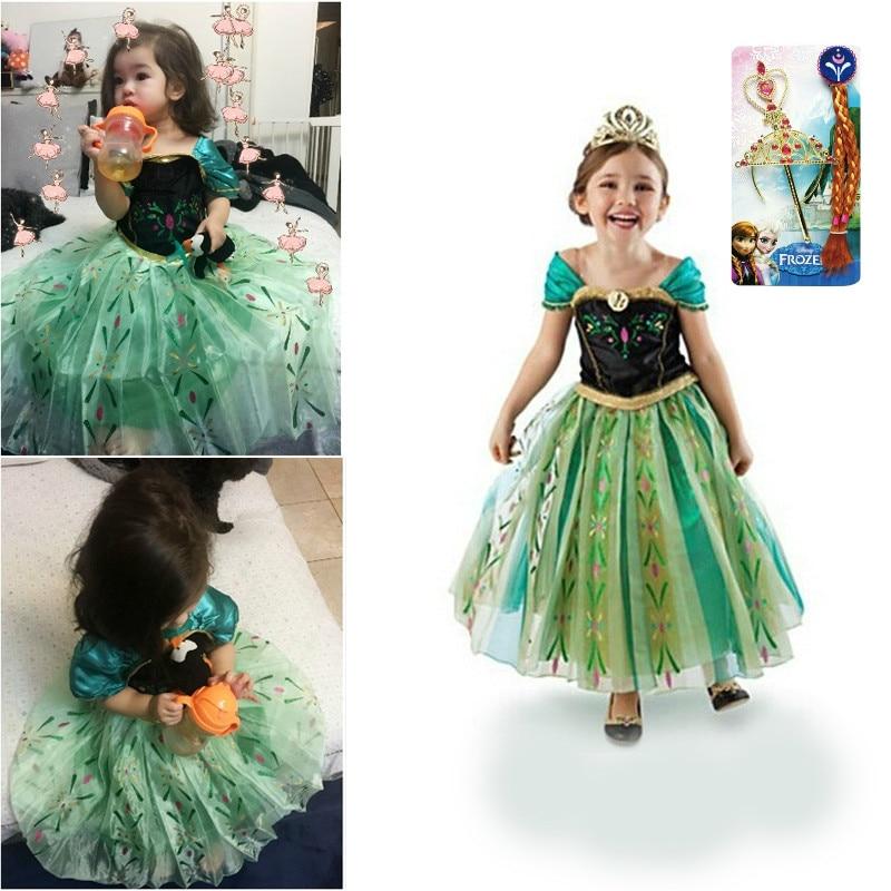 Dress for Girls Anna Summer Spring Children's Party Princess Elsa Dress Frozen 2 Costumes Kids Teen 3 4 5 6 7 8 9 10 11 12 Year