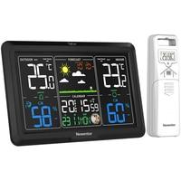 Newentor Q7 Weerstation Klokken Draadloze Digitale Led Kalenders Tafel Klok Met Temperatuur En Vochtigheid Monitor Weerbericht