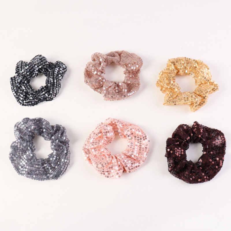 1PC ยืดหยุ่น Scrunchies ยางเลื่อมผมเชือกผม TIES Handmade ถัก Hairband อุปกรณ์เสริมผม Headwear