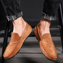 Luxury brand Genuine Leather Loafers Men Shoes Men's Loafers Casual Shoes Slip On Moccasins Men Flats Footwear Plus Size 48 soft women shoes flats moccasins slip on loafers genuine leather ballet shoes fashion casual ladies shoes footwear