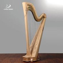 Catherine 47e eagle harp professional harp instrument, 47 strings, handmade sausage strings, harp maple