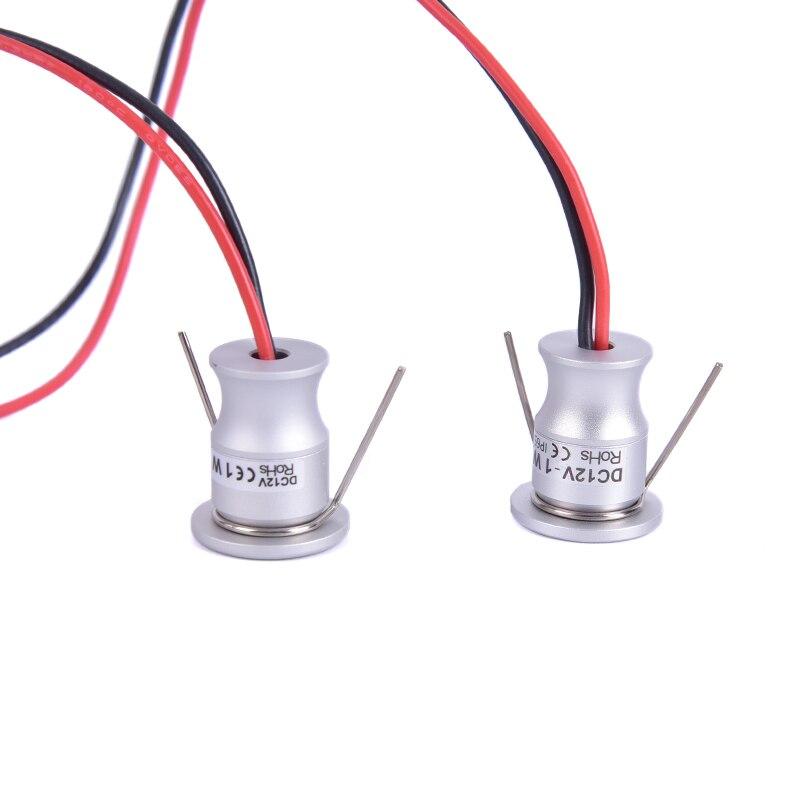 12V Led Spotlight Cabinet Mini Spot Light IP65 Waterproof Recessed Down Light Cupboard Showcase Display Light 1W Aluminum Body