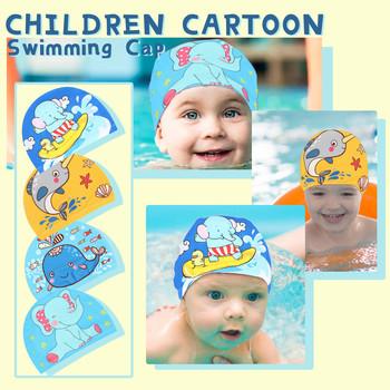 Basen czepek kąpielowy dla dzieci dziewczęta chłopcy miękka i wygodna tkanina urocza czapka kreskówka czepek prysznicowy dziecięcy strój kąpielowy prysznic tanie i dobre opinie CN (pochodzenie) NONE Cartoon pływanie cap NYLON