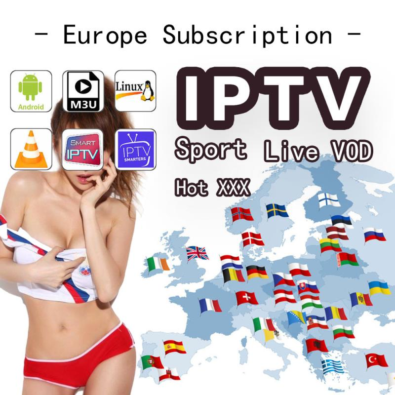 IPTV Premium Ott M3U Subscription 1 Year Abbonement France Dazn HD VOD Movies With Adult For IPTV Smarters Smart TV Android Box