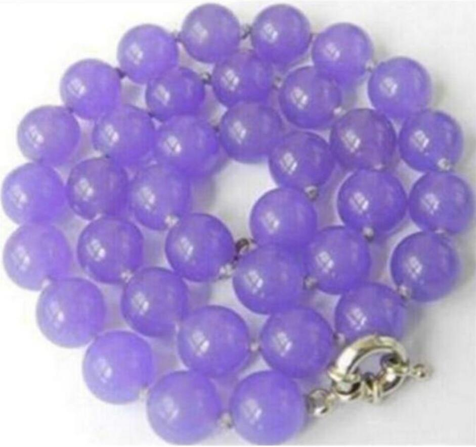 Jewelry Pearl Necklace Beautiful! AAA 10mm Purple Alexandrite Round Gems necklace  Free Shipping