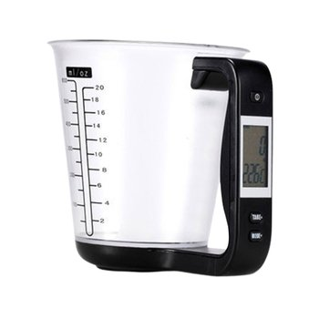Hostweigh Measuring Cup Kitchen Scales Digital Beaker Libra Electronic Tool Scale with LCD Display Temperature Measurement Cups image