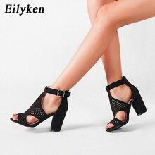 Eilyken 2020 New Gladiator Sandals Women Fashion Mesh PU Lea
