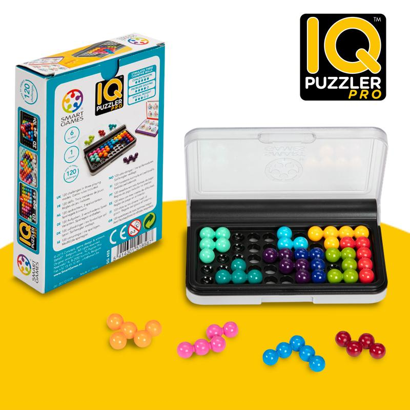 SmartGames IQ Puzzler Pro A Cognitive Skill-Building Brain Game - Brain Teaser For Ages 6 & Up, 120 Challenges In Travel