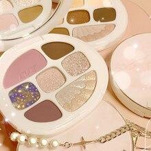 Palette di ombretti a otto colori ambra conchiglia opaca perlescente Fine ombretto luccicante fard alta luce tutto In 1 cosmetico TSLM2