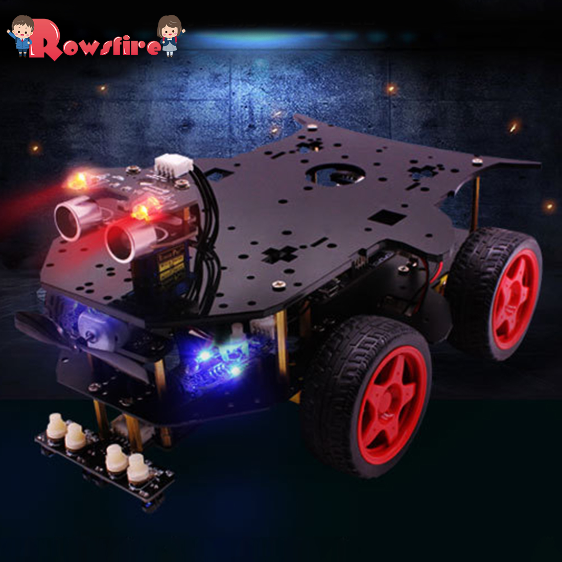 Robot Car 4WD Programming Stem Education Robot Kit Toys With Tutorial & Open Source Code For Arduino Without Battery