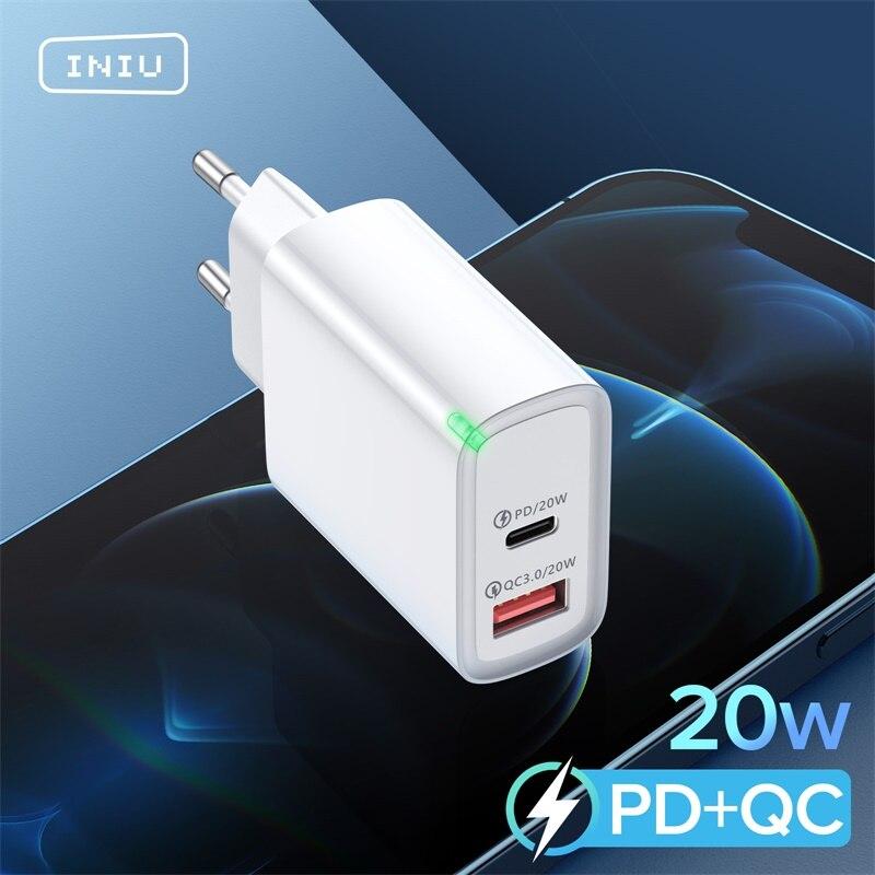 Зарядное устройство INIU PD 20 Вт USB Тип C, быстрая зарядка для телефона iPhone 12 11 mini X Xs Xr Pro Max 6 7 8 Plus Huawei Xiaomi-0