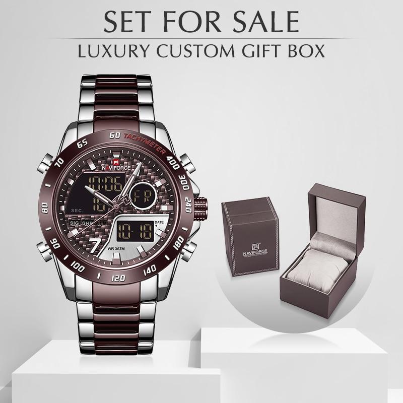 NAVIFORCE Men Watch With Box Luxury Men's Waterproof Sport Watches Quartz Analog Wristwatch Set For Sale Relogio Masculino