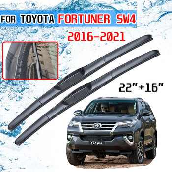 For Toyota Fortuner SW4 2016 2017 2018 2019 2020 AN150 AN160 Accessories Front Windscreen Wiper Blade Brushes Wipers for Car image