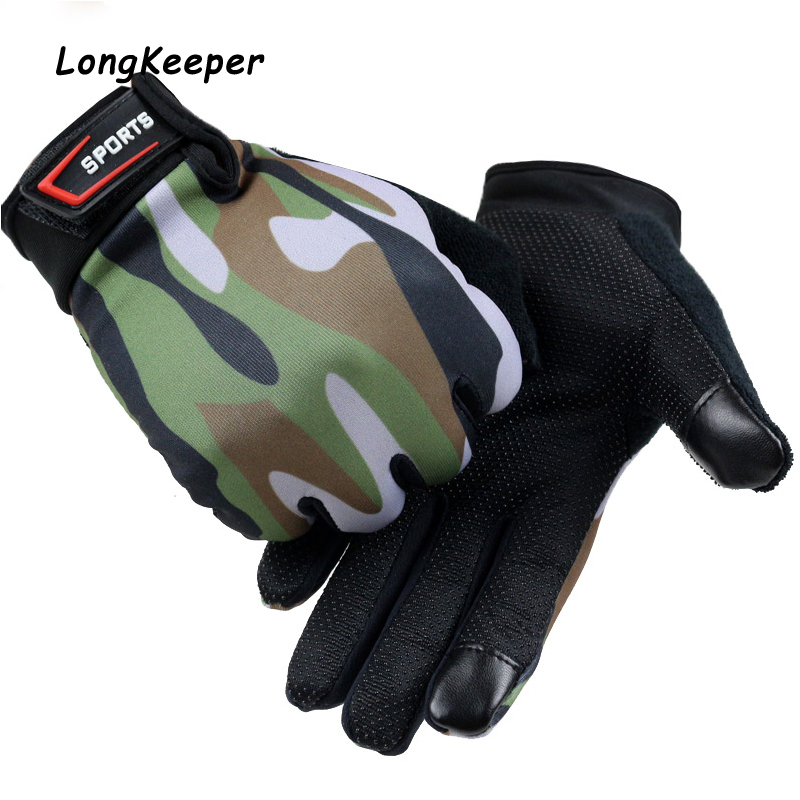 Top Quality Men Cycling Bike Gloves Full Finger Touch Screen Gloves Print Non-slip Fitness Guantes Outdoor Sports Luvas